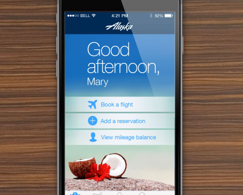 Alaska Airlines iOS Mobile App